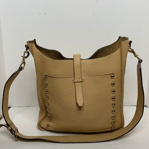 Rebecca Minkoff pebbled leather feed bag.